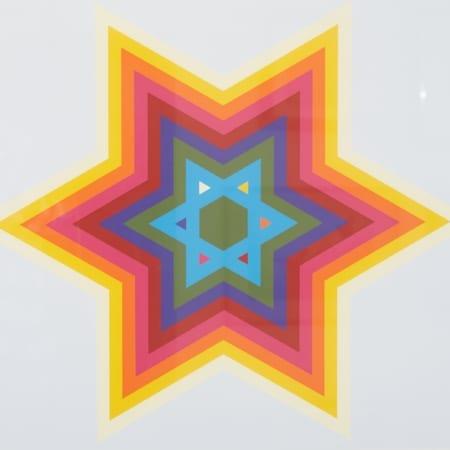 Lot 061: Yaacov Agam Star of David Silkscreen Fine and Decorative Arts of the Globe - Jan 19 2019 Fine Art
