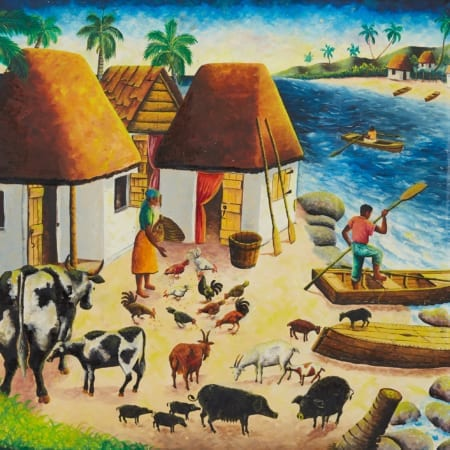 Lot 031: Andre Normil Haitian Oil Painting Fine and Decorative Arts of the Globe - Jan 19 2019 Fine Art