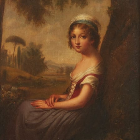 Lot 006: Cephas Giovanni Thompson Italian Girl Oil on Canvas Laid Board Fine and Decorative Arts of the Globe - Jan 19 2019 Cephas Thompson