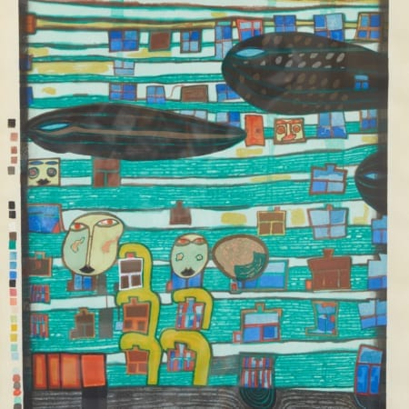 Lot 052: Friedensreich Hundertwasser Song of the Whales Woodblock Print Fine and Decorative Arts of the Globe - Jan 19 2019 Art of World