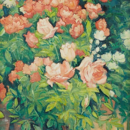 Lot 027: Andre Vignoles Roses Oil on Canvas Fine and Decorative Arts of the Globe - Jan 19 2019 Fine Art