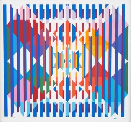 Lot 066: Yaacov Agam Hope Silkscreen on Plastic Geometric Fine and Decorative Arts of the Globe - Jan 19 2019 Asian Art