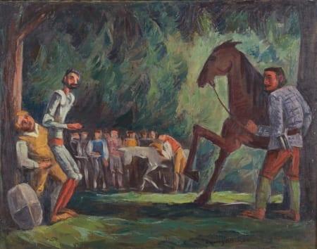 Lot 036: Dewey Albinson Don Quixote Oil on Canvas Fine and Decorative Arts of the Globe - Jan 19 2019 Art of World