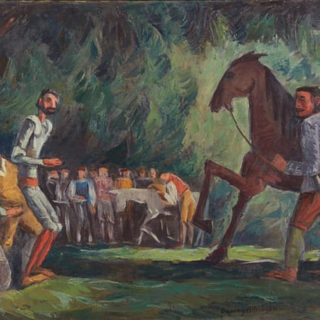 Lot 036: Dewey Albinson Don Quixote Oil on Canvas Fine and Decorative Arts of the Globe - Jan 19 2019 Art of World