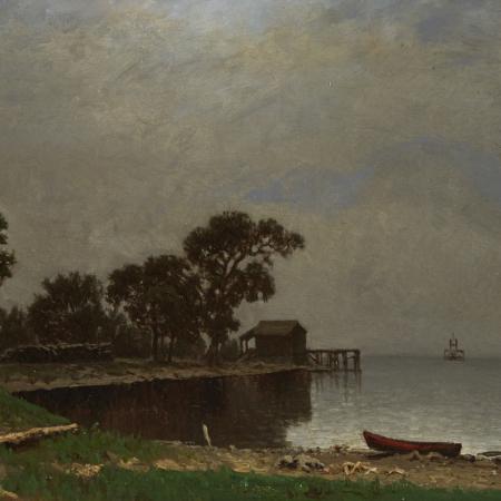 Lot 019: William Marple 19th c. Lake Pepin Minnesota Oil Painting Fine and Decorative Arts of the Globe - Jan 19 2019 Fine Art