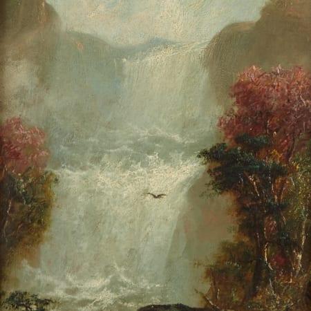 Lot 020: Jerome B. Thompson Dakota Cascade Oil on Panel Painting Fine and Decorative Arts of the Globe - Jan 19 2019 Fine Art