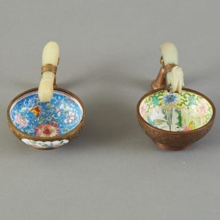 Lot 110: Group of 2 Chinese  Jade Belt Hook handled Cups Fine and Decorative Arts of the Globe - Jan 19 2019 Art of World