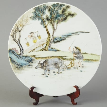 Lot 147: Circular Chinese Porcelain Plaque Famille Verte Enamels Fine and Decorative Arts of the Globe - Jan 19 2019 Decorative Arts