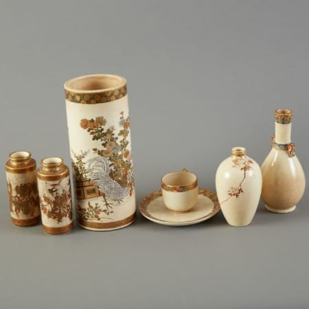 Lot 149: Group of Japanese Meiji Satsuma Vases and Cups Fine and Decorative Arts of the Globe - Jan 19 2019 Art of World