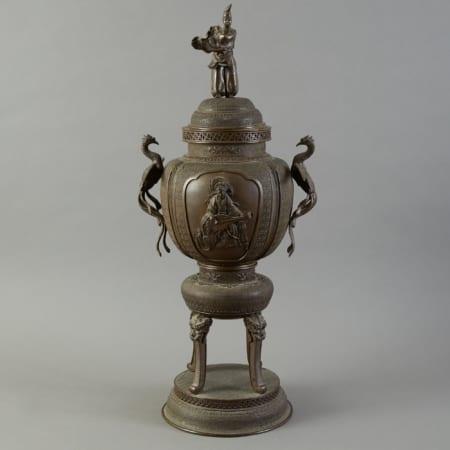 Lot 155: Japanese Meiji Bronze Incense Burner Signed Fine and Decorative Arts of the Globe - Jan 19 2019 Art of World