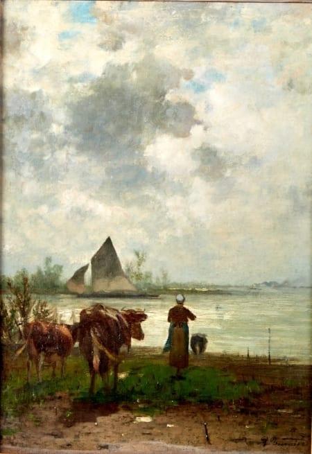 Lot 017: Richard Burnier Painting  Dutch Landscape Fine and Decorative Arts of the Globe - Jan 19 2019 Art of World