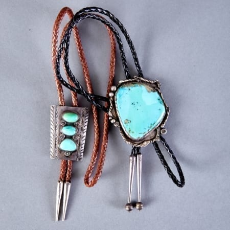 Lot 306: 2 Bolo Ties Attributed to Dan Simplicio Fine and Decorative Arts of the Globe - Jan 19 2019 Art of World