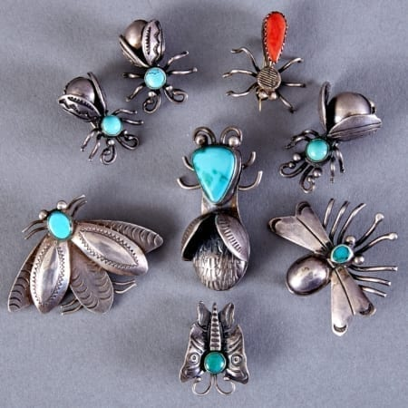 Lot 328: 8 Navajo Sterling Silver Insect Pins Fine and Decorative Arts of the Globe - Jan 19 2019 Art of World