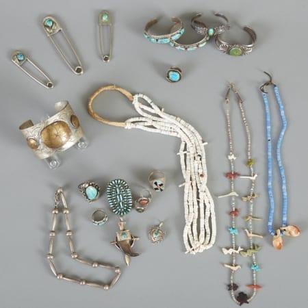 Lot 375: Large Group of Native American Jewelry Fine and Decorative Arts of the Globe - Jan 19 2019 Art of World
