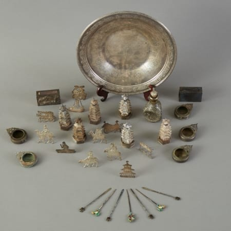 Lot 097: Group of Antique Chinese Silver  Export Objects Fine and Decorative Arts of the Globe - Jan 19 2019 Art of World