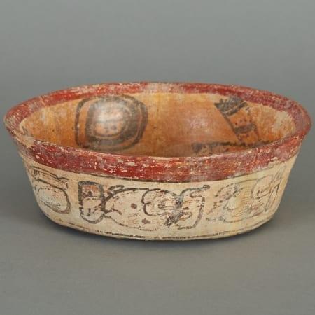 Lot 186: Pre-Columbian Ceramic Maya Codex Bowl Fine and Decorative Arts of the Globe - Jan 19 2019 Asian Art