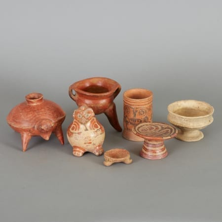 Lot 182: 7 Small Pre-Columbian Ceramics Fine and Decorative Arts of the Globe - Jan 19 2019 Asian Art