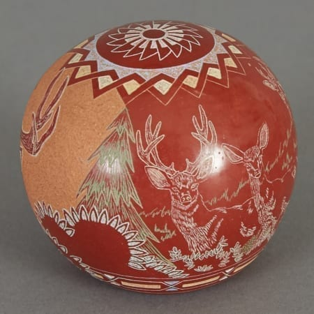 Lot 165: Gregory Lonewolf Sgrafitto Pot Santa Clara Fine and Decorative Arts of the Globe - Jan 19 2019 Decorative Arts