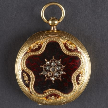 Lot 094: Golay 18K Gold Pocket Watch Enamel Fine and Decorative Arts of the Globe - Jan 19 2019 Art of World