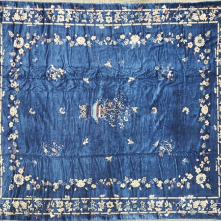 Lot 011: Large Chinese Blue Rug Asian Art and Decorative Art (Day Two) - Sep 29 2018 Asian Art