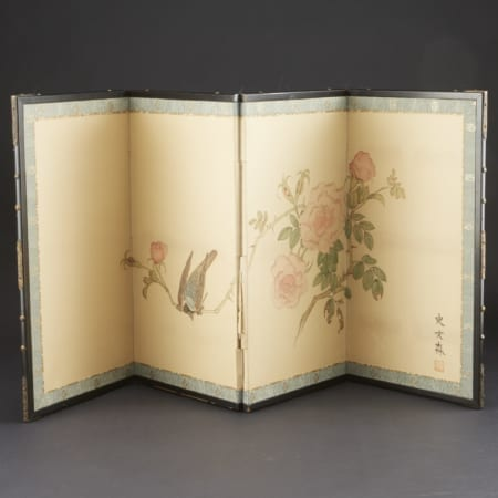 Lot 014: Alison Cameron Miniature Screen Painting Asian Art and Decorative Art (Day Two) - Sep 29 2018 Asian Art