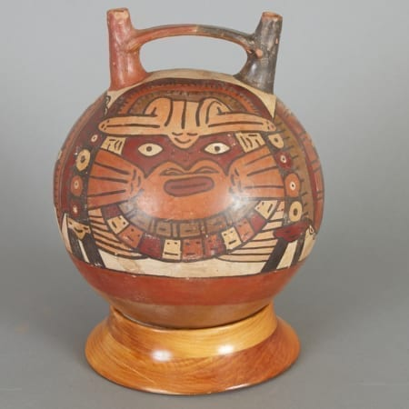Lot 183: Pre-Columbian Nazca 2 Spout Vessel Fine and Decorative Arts of the Globe - Jan 19 2019 Asian Art