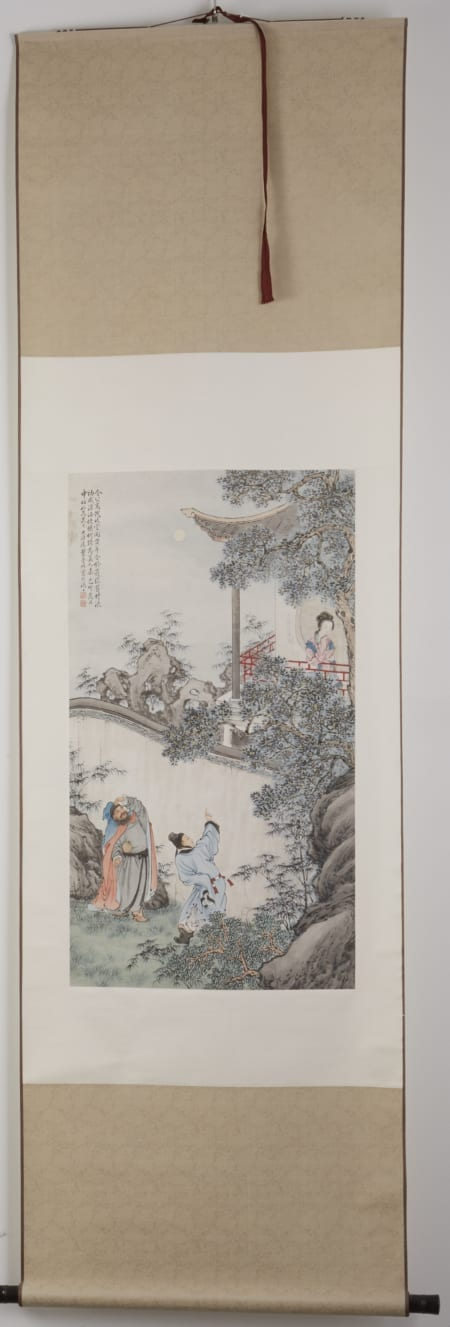 Lot 015: Chinese Qing Dynasty and Republic Period brushwork Painting of Three Chivalries by Ye Mansu completed in 1939 in Shanghai. Asian Art and Decorative Art (Day Two) - Sep 29 2018 Asian Art