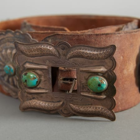 Lot 292: Old Pawn Concho Belt c. 1915-1920 Fine and Decorative Arts of the Globe - Jan 19 2019 Art of World