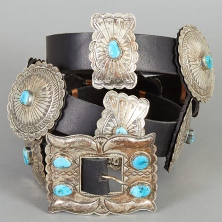 Lot 289: Concho Belt Alfred Martinez Fine and Decorative Arts of the Globe - Jan 19 2019 Art of World