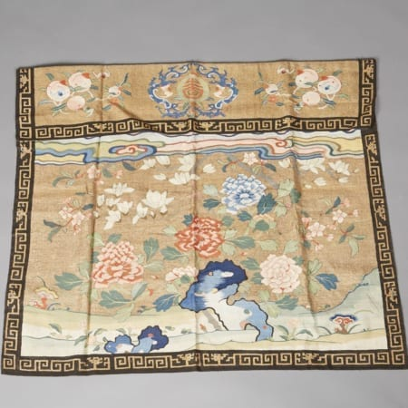 Lot 008: Fine 18th century Chinese Kossu or Kessi Embroidered Altar Frontal Asian Art and Decorative Art (Day Two) - Sep 29 2018 Asian Art