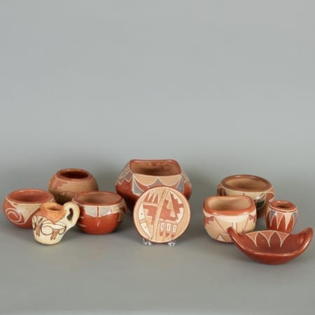 Lot 169: 10 Native American Southwestern Redware Pots Fine and Decorative Arts of the Globe - Jan 19 2019 Decorative Arts