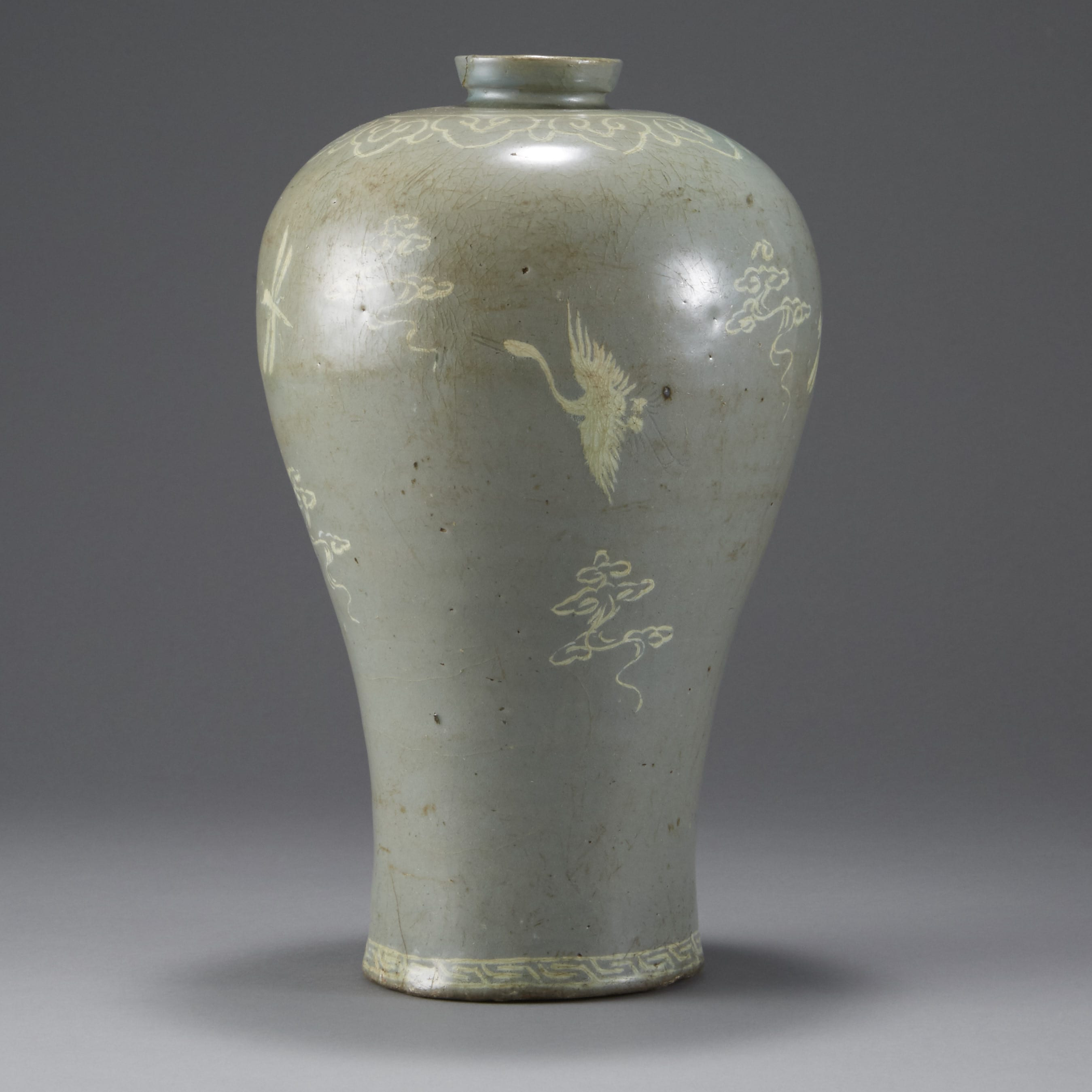 Lot 157: Korean Inlaid Celadon Maebyong Vase - Goryeo dynasty (918-1392)