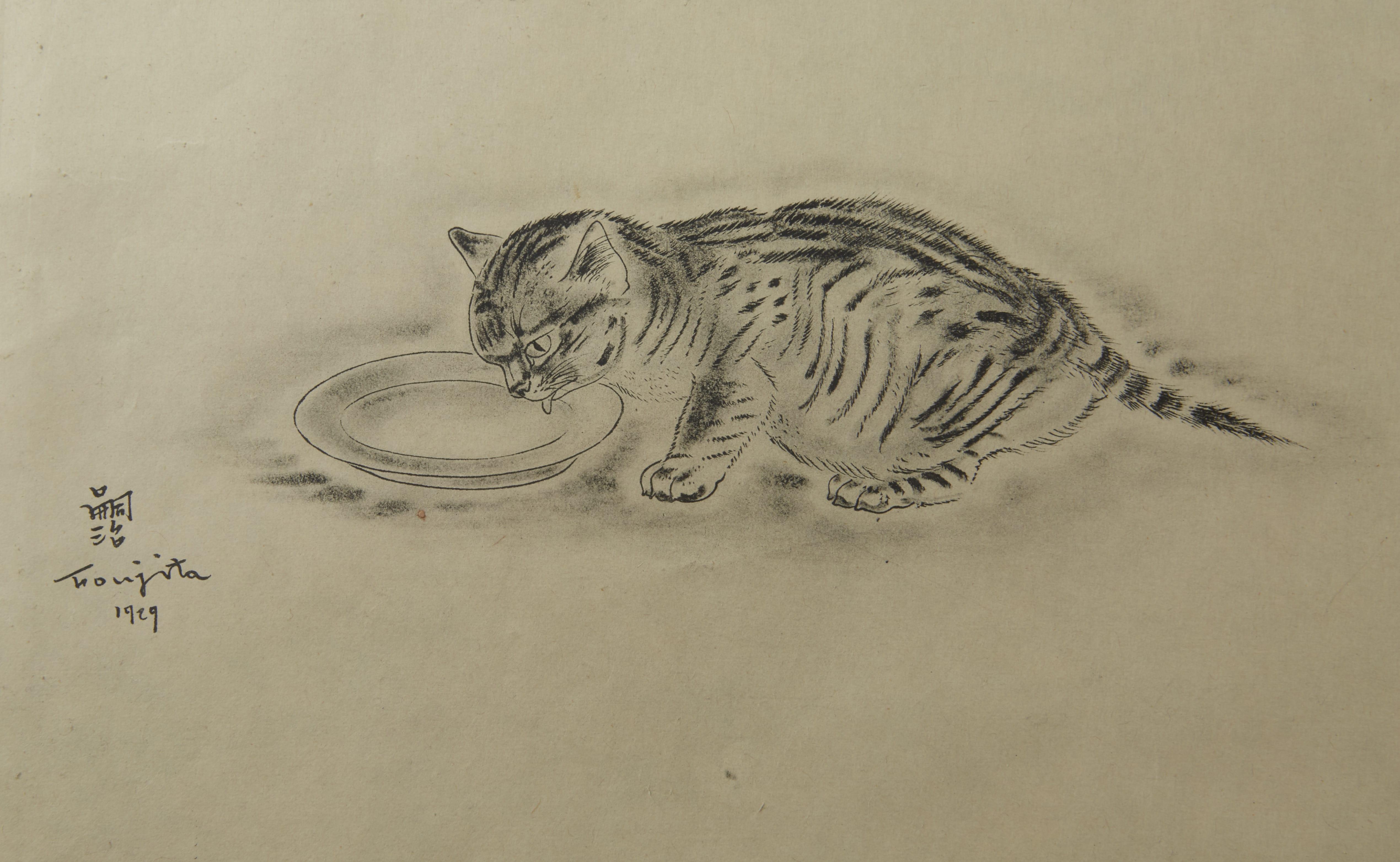 Lot 261: Leonard Tsuguharu Foujita Collotype Print Book of Cats