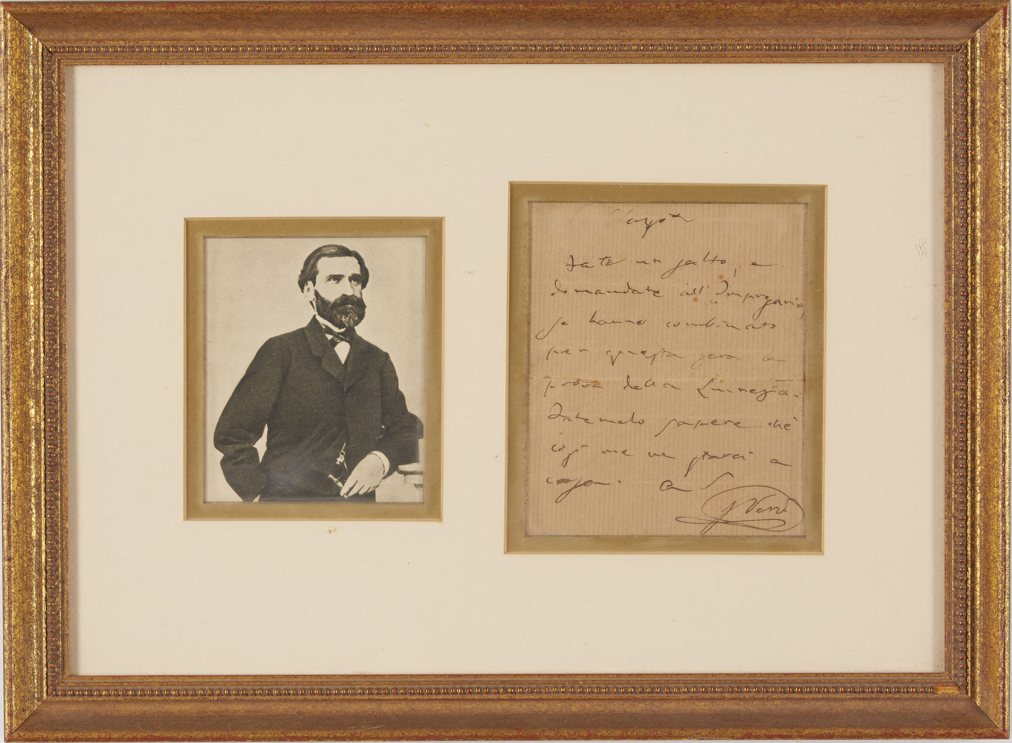 Lot 139: One Verdi Signed Letter