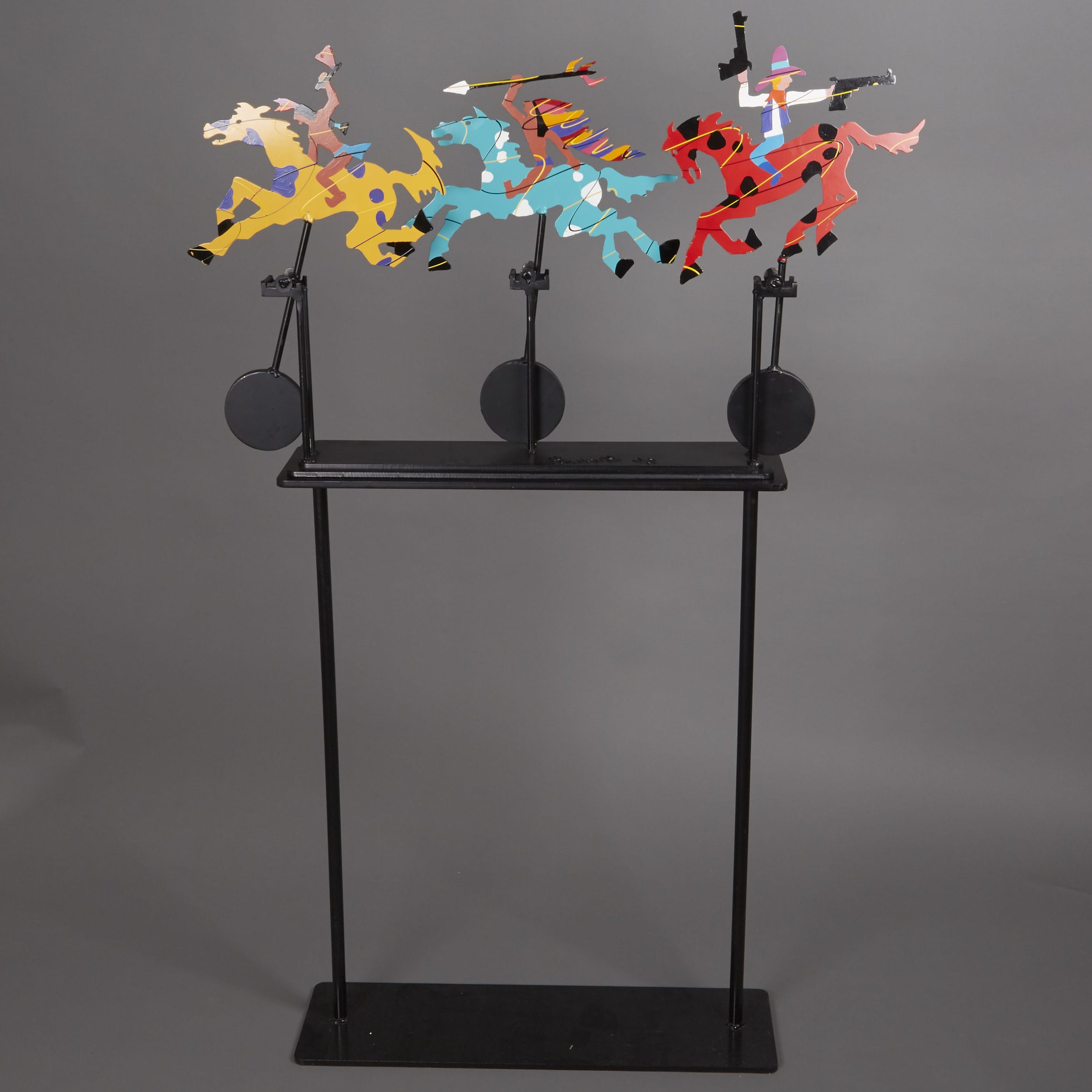 Lot 159: Frederick Prescott Kinetic Metal Sculpture