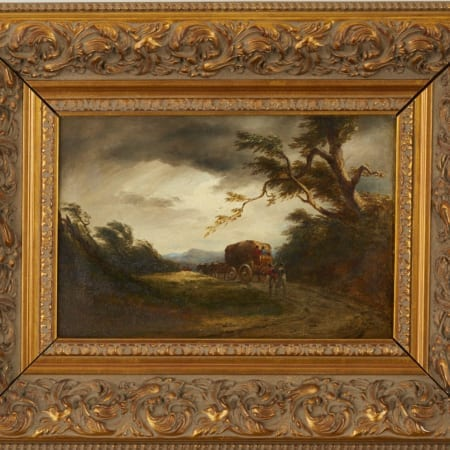 Lot 075: Style of David Cox the Elder The Coming Storm Oil on Canvas