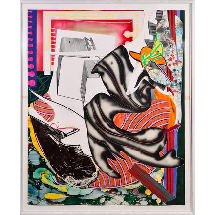 "Frank Stella (B. 1936), ""Moby Dick Series"" Lithograph and Silkscreen, 1985 Sell With Revere [tag]"