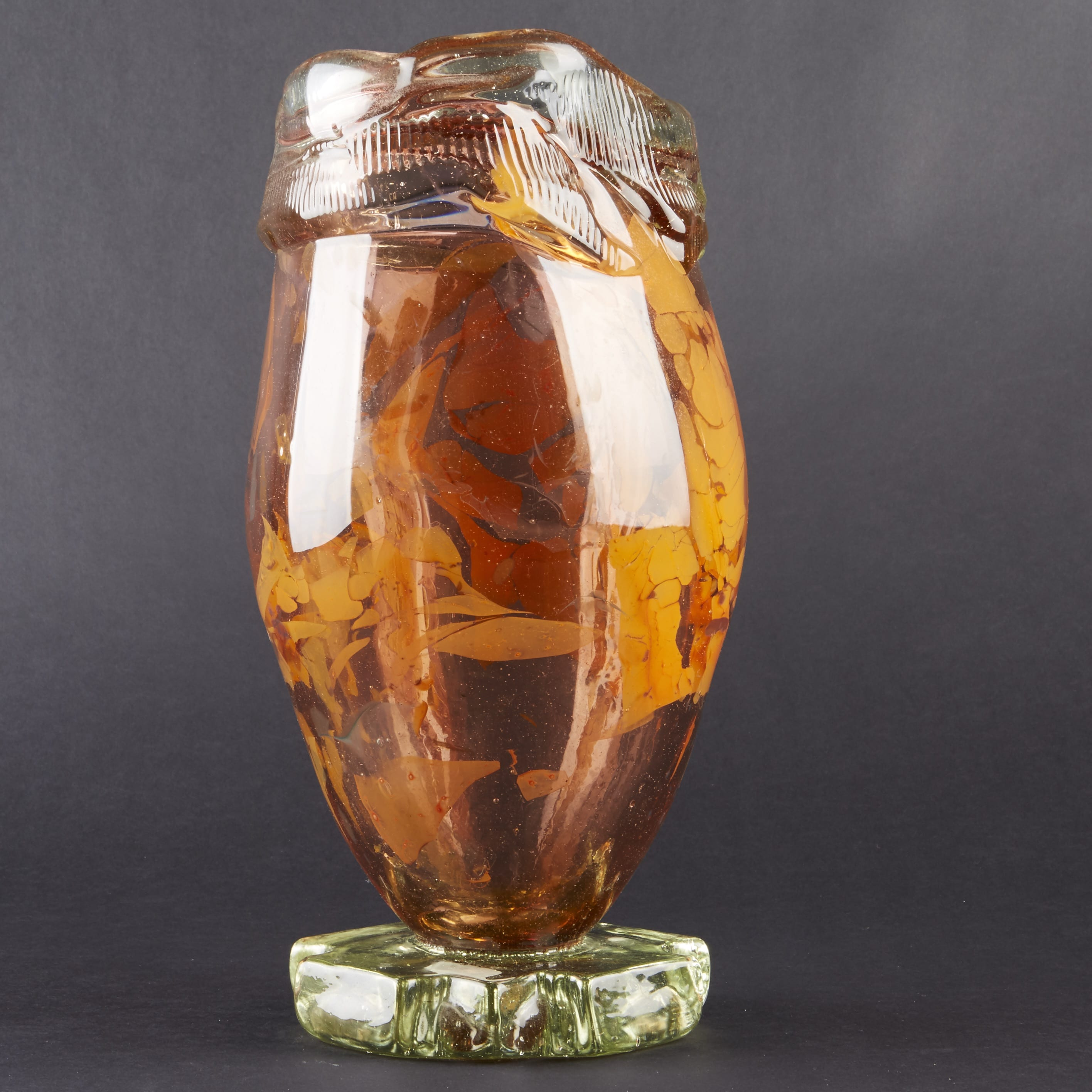 Lot 054: Fritz Dreisbach Glass Vase