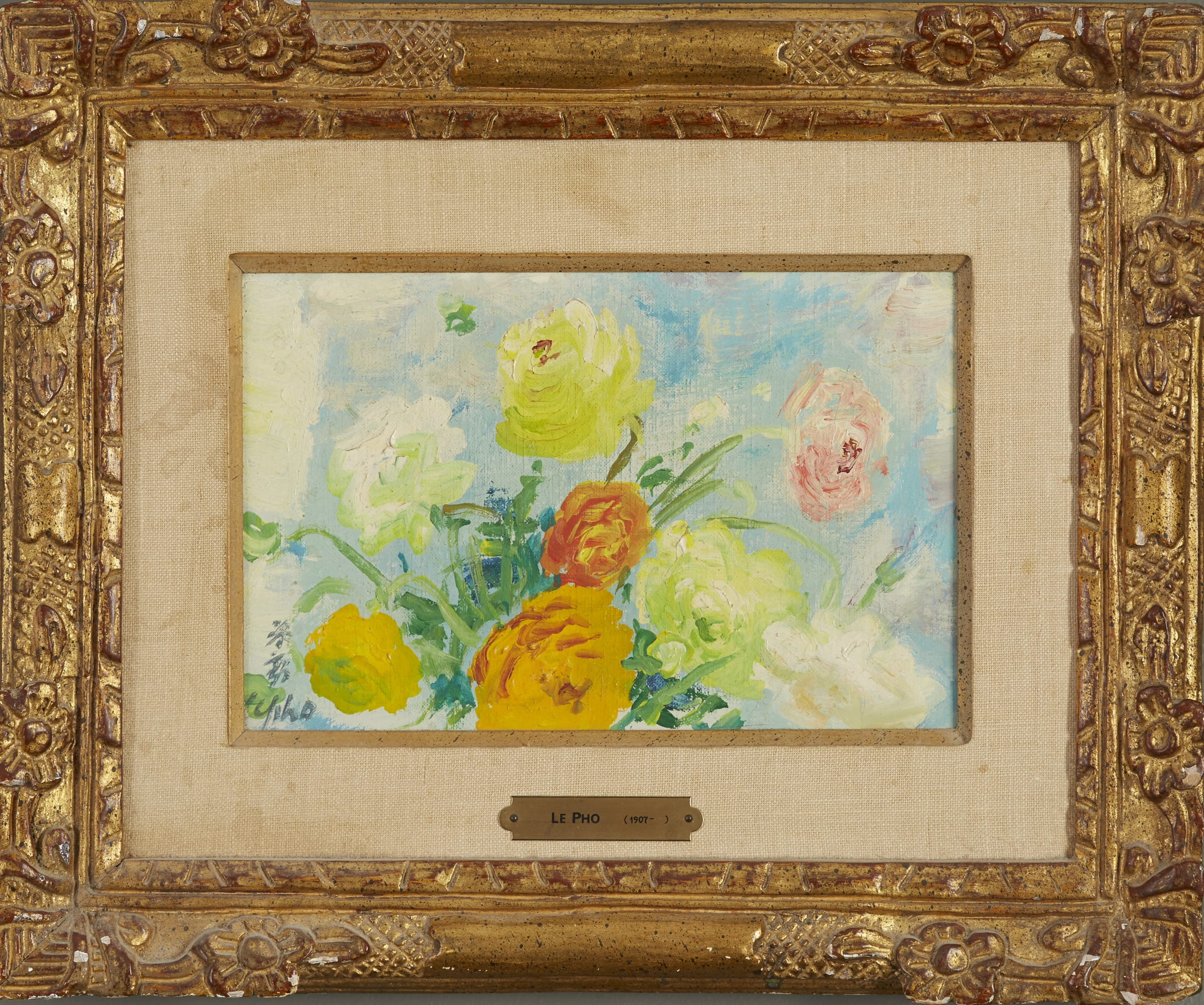 Lot 024: Le Pho Flowers Oil on Canvas