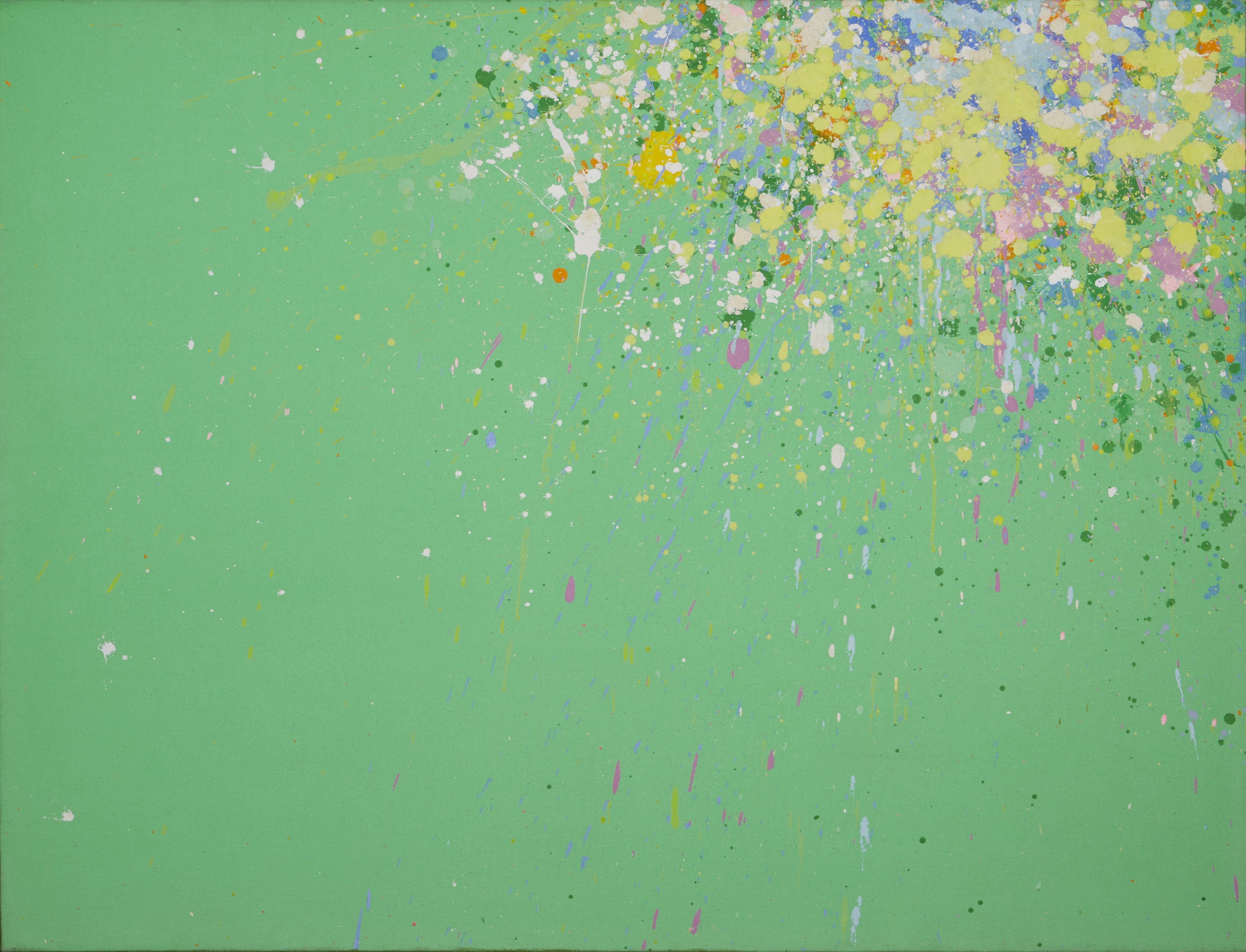 Lot 034: Walasse Ting All My Life is a Spring Acrylic on Canvas