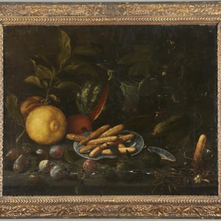 Lot 078: Old Master Still Life Oil on Panel