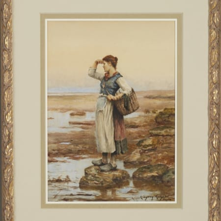 Lot 065: Daniel Ridgway Knight Watercolor