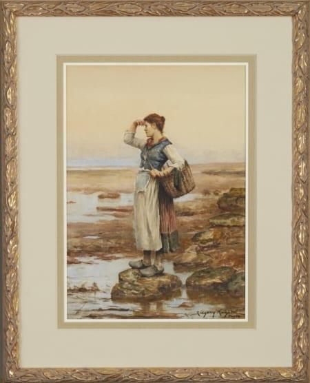 Lot 065: Daniel Ridgway Knight Watercolor