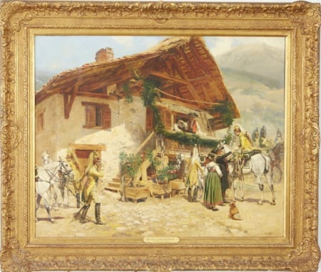 Lot 066: Edouard Detaille Oil on Canvas