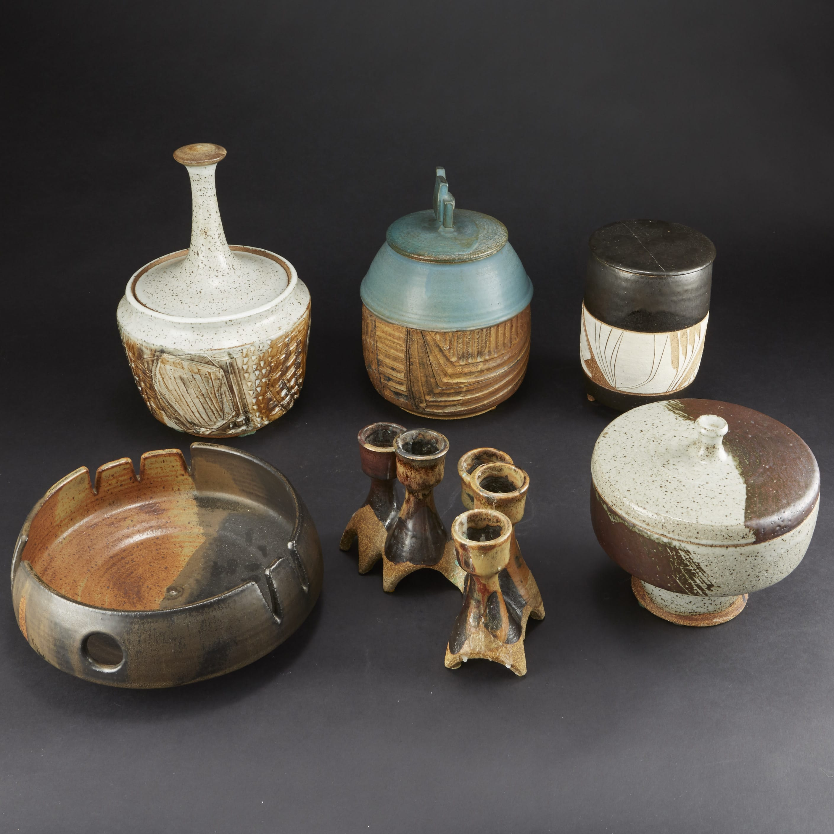 Lot 145: 6 Pieces Joel Edwards Pottery