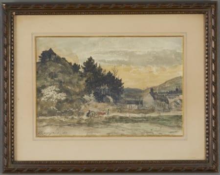 Lot 069: Henri-Joseph Harpignies Watercolor