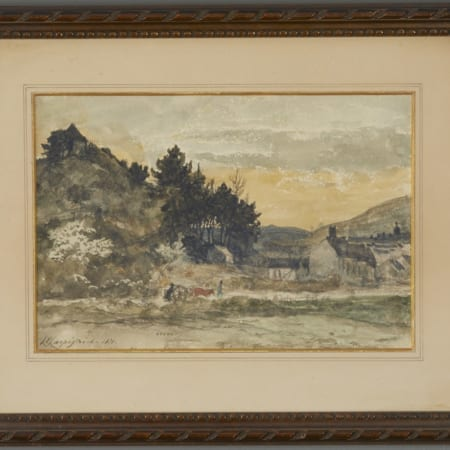 Lot 069: Henri-Joseph Harpignies Watercolor