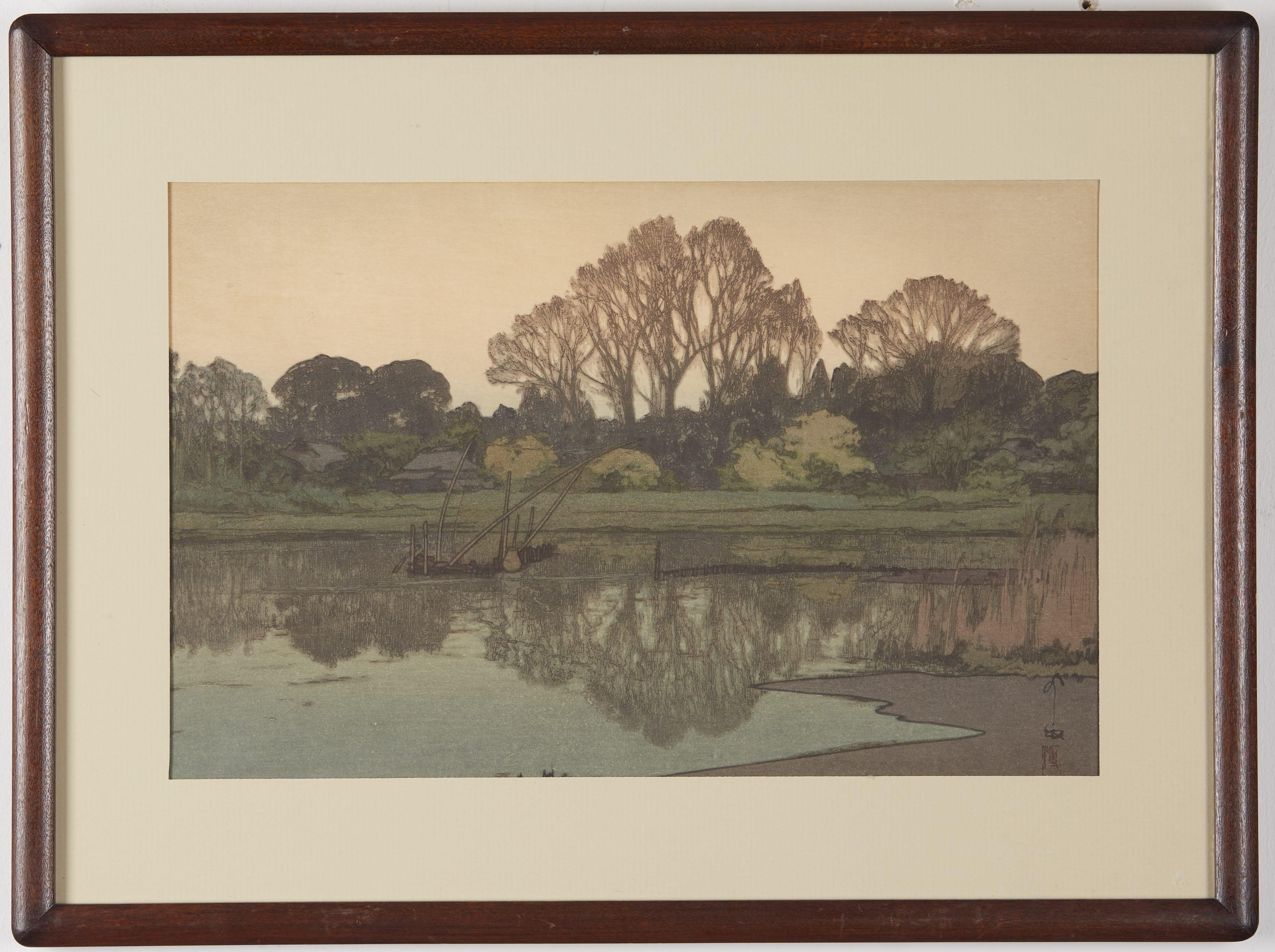 Lot 092: Hiroshi Yoshida Yoshikawa Woodblock Print
