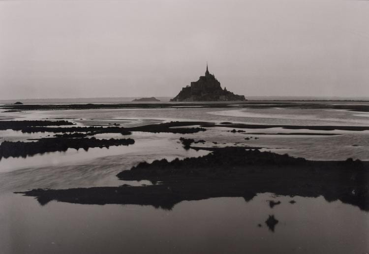 "Lot 030: William Clift (b. 1944) """"Mont St. Michel France"" 1977"" Silver Gelatin Print Signed in Pencil"