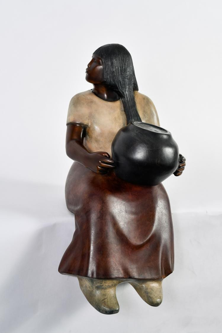 "Lot 004: Doug Hyde (b. 1946) """"Laguna Potter"" Bronze Sculpture"""